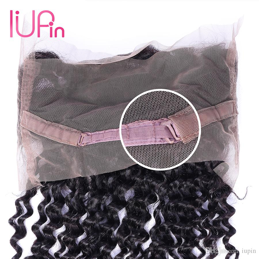 """Top Quality Preplucked 360 Lace Closure Peruvian Human Curly Hair Natural Hairline 22x4x2"""" Lace Frontal Closure with Baby Hair Beauty Supply"""