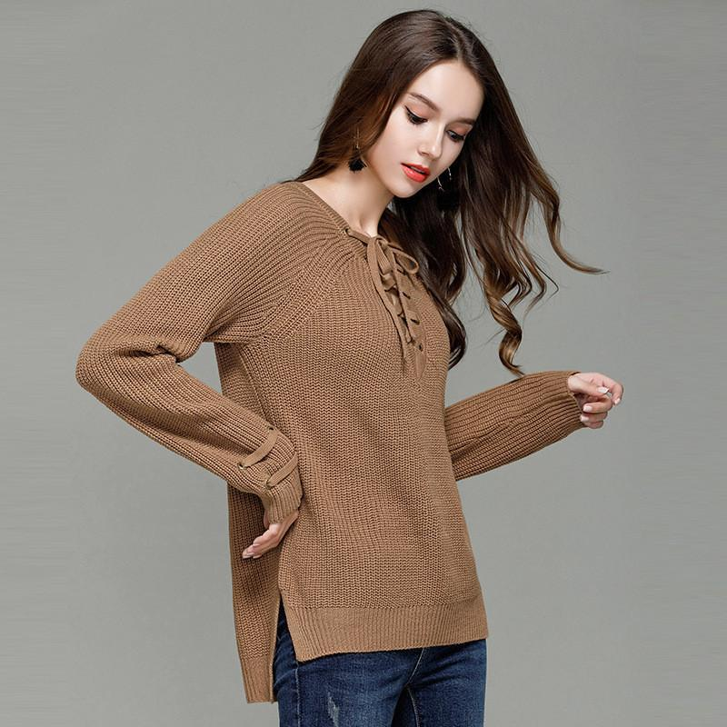 044e877732 2019 Oversize Women Sweaters/Pullovers Slim Long Sleeve Knitted Jumper  Femme Sexy Tops Ladies Sweaters Knitwear Clothing For Female From Vogogirl,  ...