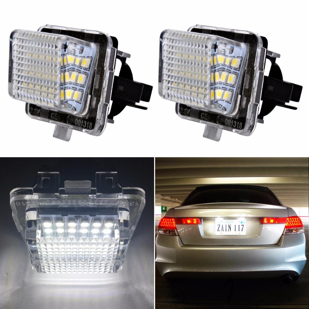 LED Kennzeichenbeleuchtung für Mercedes W204 5D W212 W216 W221 C207 Benz AMG Zubehör Weiß SMD Auto LED Kennzeichenleuchte