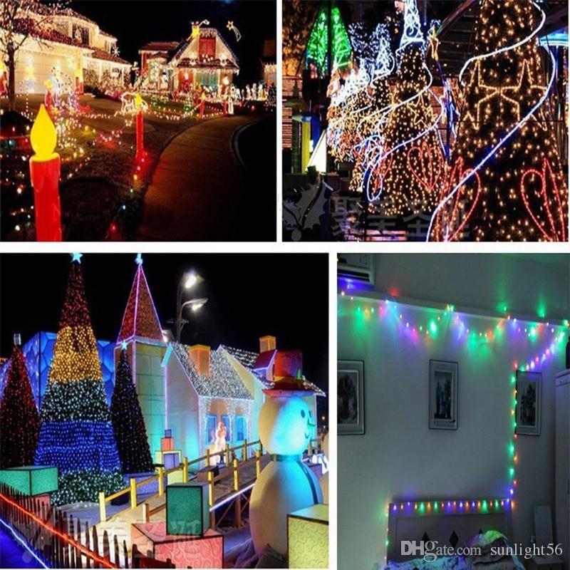100 LED 200 LED al aire libre 8 modos energía solar de la secuencia Luz de la fiesta de Navidad de la lámpara de hadas 10M 22M