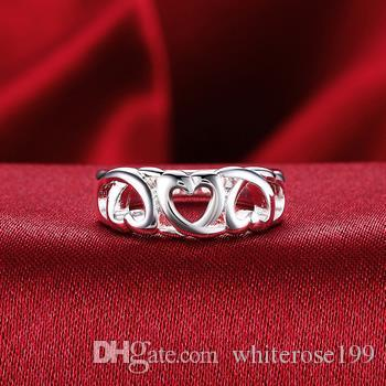 Wholesale  - 小売価格最低価格クリスマスギフト、送料無料、新しい925銀ファッションリングR090