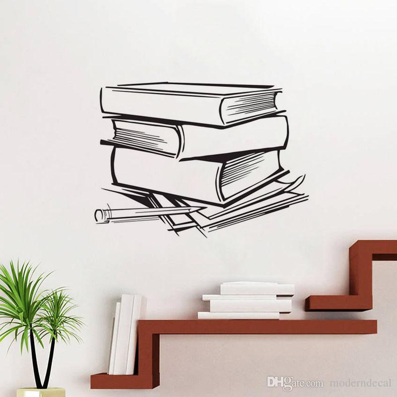 Creative Wall Stickers Books Pattern Home Decoration Wall Decals