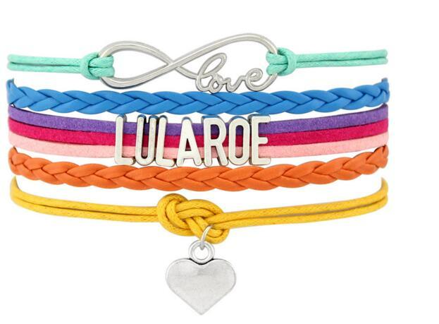 Infinity Love Lularoe Letter Bracelet Horse Charm Wrap Bracelet Designer Friendship Multilayer Weave Wrist Band Jewelry