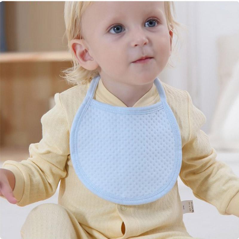 200 adet / grup Yeni Doğan Bebek Önlüğü Pamuk Havlu Pembe / Mavi / Sarı BoysGirls Katı Tie-up Önlüğü Unisex yumuşak duygu
