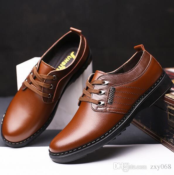 Leather Men Dress Shoes Business Brand Leather Men Shoes Casual Design Men Flats Men Oxfords