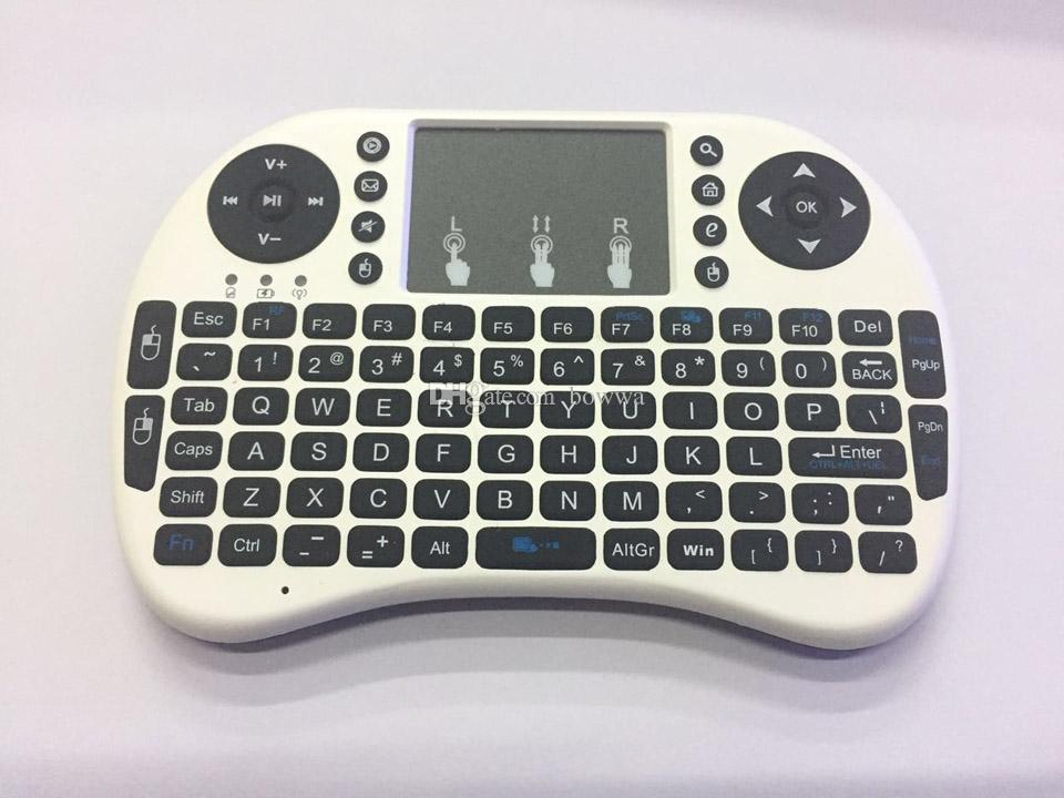 Fly Air Mouse Rii Mini i8 2.4GHz Wireless QWERTY Keyboard with Touchpad for PC PadNotebook Google Android TV Box Xbox360 PS3 HTPC/IPTV