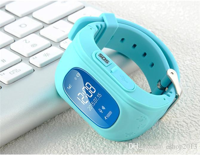 Q50 GPS Tracker Watch For Kids SOS Emergency Anti Lost Bracelet Wristband Two Way Communication Smart Phone App Wearable Devices Finder OLED