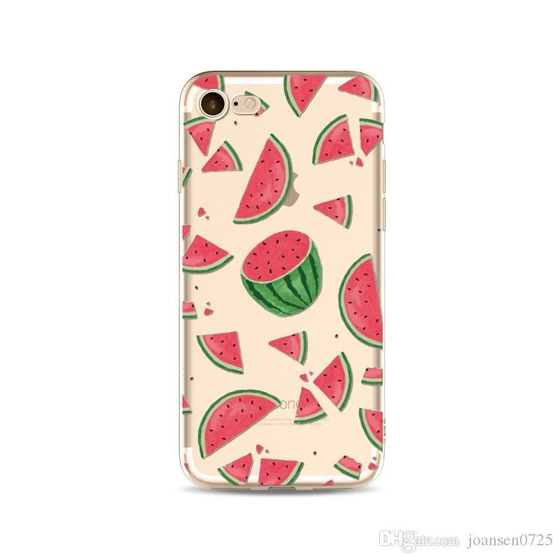 Summer Watermelon TPU Painted phone case For iphone X 5S 6 6S 7 8 Plus Samsung Galaxy S8 S9 Plus Ultrathin Soft Silicone Back Cover Shell