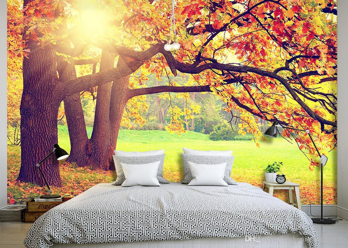 High Quality Wallpaper For Walls 3 D For Living Room Mountain Forest ...