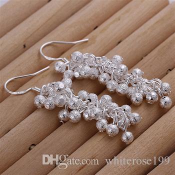 Partihandel - lägsta pris julklapp 925 sterling silver mode örhängen E07
