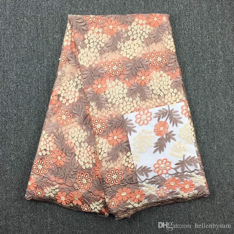 Африканский швейцарский красивый тюль кружева, 032, Бесплатная доставка Африканский свадебный кружева высокого Quality5yards100% Африканская ткань вышивки