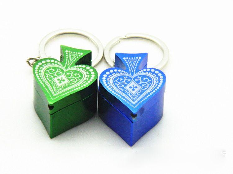 Pipa di tabacco a forma di cuore con motivo a forma di pipa Lega di alluminio creativa fumatori Tubi di fumo Portasigarette portasigarette