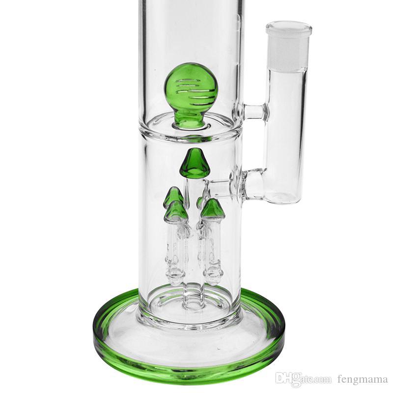 Зеленый цвет стекла бонги воды бонг водопровод нефтяные вышки кальяны 18 мм женский совместных буровых вышек