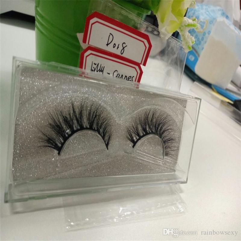 Natural 3D 100% Real Mink False Eye Lashes Mink Individual Fake Eyelashes Extensions For Makeup