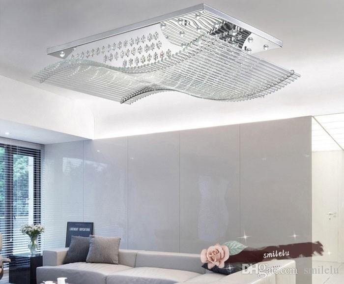 Großhandel LED Wohnzimmerlampe, Moderne Kristalllampe, LED Wohnzimmer,  Deckenleuchte, Rechteckiges Schlafzimmer, Restaurantbeleuchtung, Lampen Und  ...