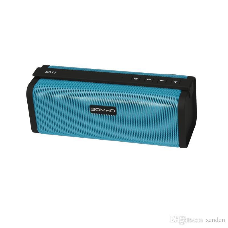 Cool Hifi Super Bass Bluetooth Mini Speaker SOMHO S311 Stereo Sound Box Wireless Portable Speaker Support TF FM radio Handsfree for Car Call