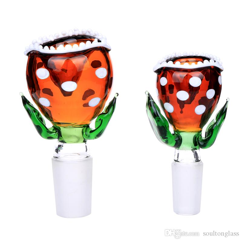 Soultonglass 2017 New Arrival Piranha Flowers Glass Bowls for Bongs Water Pipe Bowl 14mm and 18mm BW-150