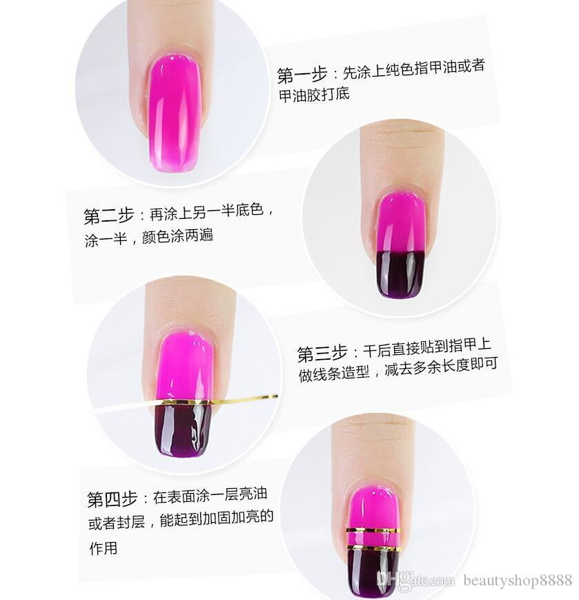 F307 Nail Art Line Tips Rolls Waves Striping Tape Line DIY 3D Nail Art Tips Decoration Stickers For Nails Care Decor