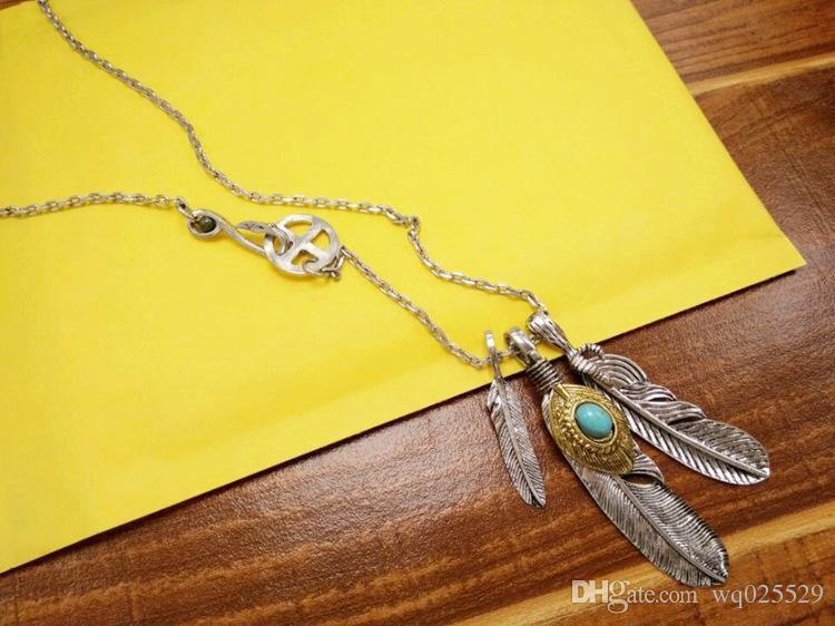 lange Art und Weise Feder Anhänger Kette Pullover Halskette 2019 heiß-Verkauf Retro Allgleiches für Mann und Frau