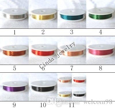 10Rolls / partij koperen koord draad bevindingen componenten voor DIY Craft Sieraden Gift Wi2