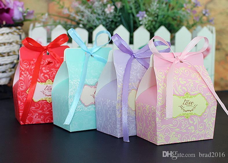 Colorful Small Cardboard Wedding Favors Wholesale Party Gift Box