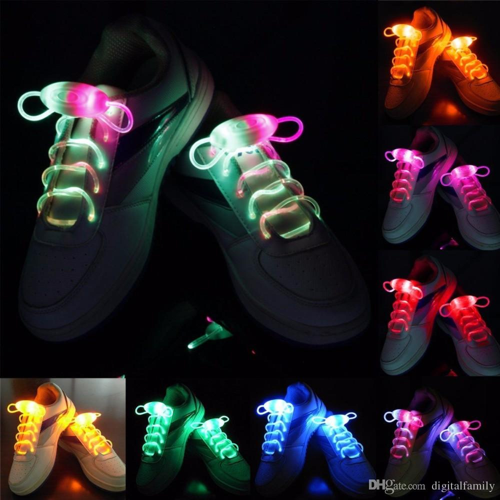 LED Flashing shoe laces Fiber Optic Shoelace Luminous Shoe Laces Light Up Shoes lace