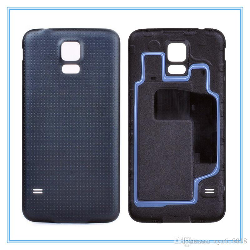 Haute Qualité Nouveau Remplacement Couverture Arrière Batterie Logement Porte Pour Samsung Galaxy S5 SV I9600 G900 Avec Bague En Caoutchouc Blanc Noir Bleu Or