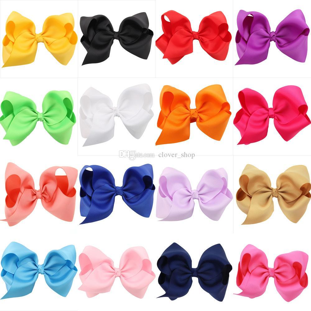 infantile hairbows pince à cheveux de ruban de filles Bébés filles Boutique main Bow cheveux bowknot épingles à cheveux Barrettes