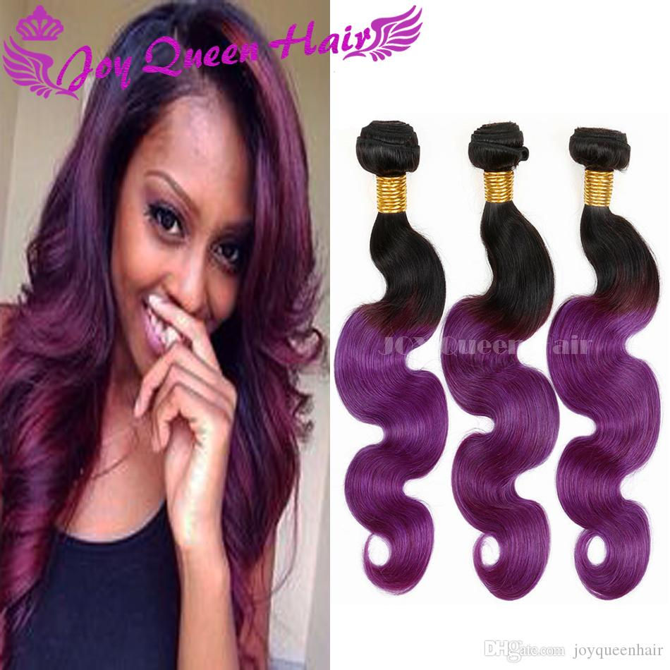 Cheap ombre brzailian viring hair bundles dark root two tone color cheap ombre brzailian viring hair bundles dark root two tone color 1bpurple remy peruvian malaysian hair extension body wave human hair weaves remy hair pmusecretfo Images