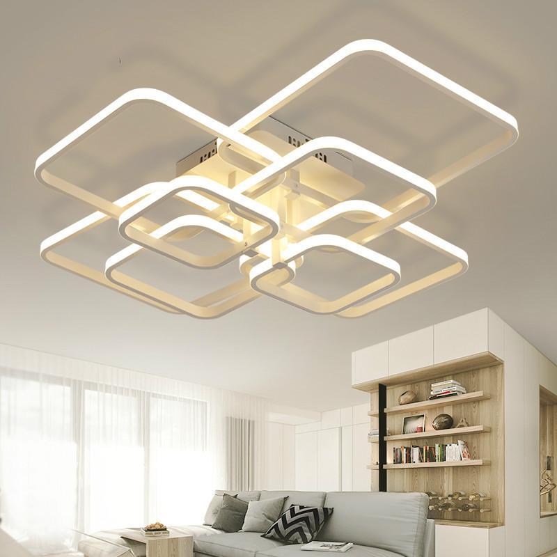 Modern led ceiling lamp rectangle acrylic aluminum ceiling lights for living room bedroom luminaria led lustre lampen luminaire ceiling light ceiling lamp