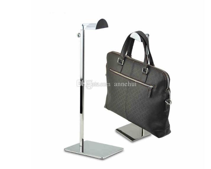 Boutique Bags display stand fashion D-type handbag display rack adjustable metal satchel bag hat Purse hanger shelf holder free shippin