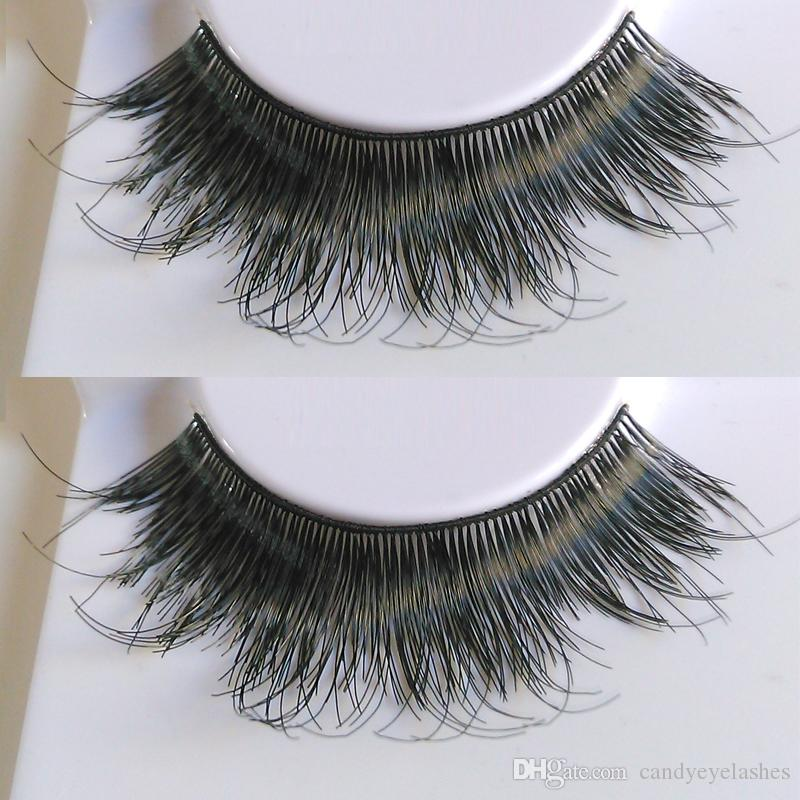 Human hair eyelashes fake eye lashes silk false thick eyelash faux see larger image pmusecretfo Image collections