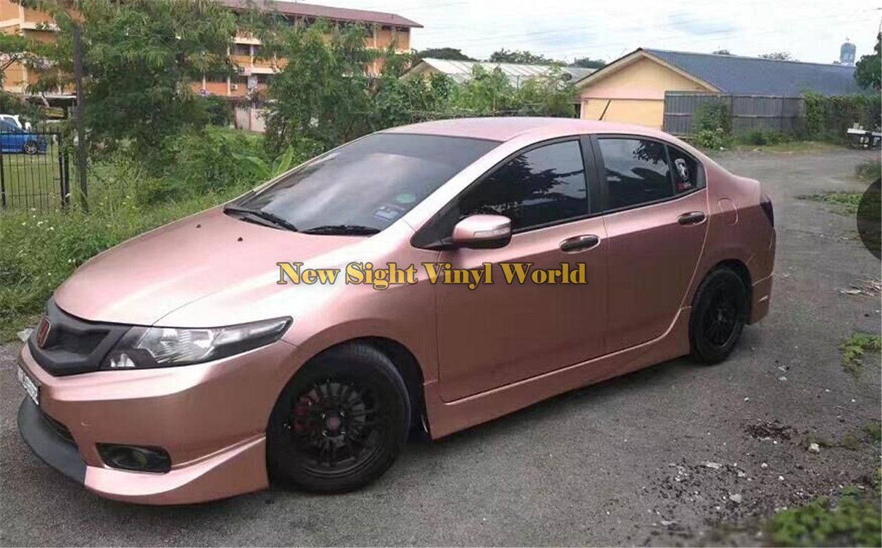 Rose Gold Chrom Satin Auto Wrap Vinyl Styling Folie Satin Chrom Fahrzeug  WRAPPING Haut Luxus Wraps Aufkleber