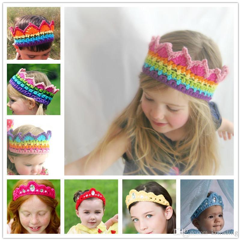 купить оптом детские ручной вязаные корона оголовье девушки