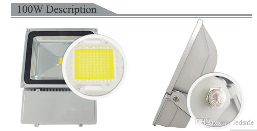 Faro de publicidad exterior inundación de luz LED 100W 150W 200W impermeable IP65 Proyector para jardín patio delantero de iluminación Reflectores CE ROSH