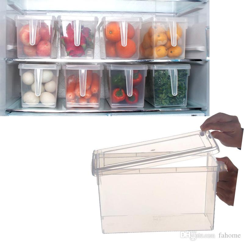 Online Cheap Clear Storage Box Food Vegetables Fruit Rectangular