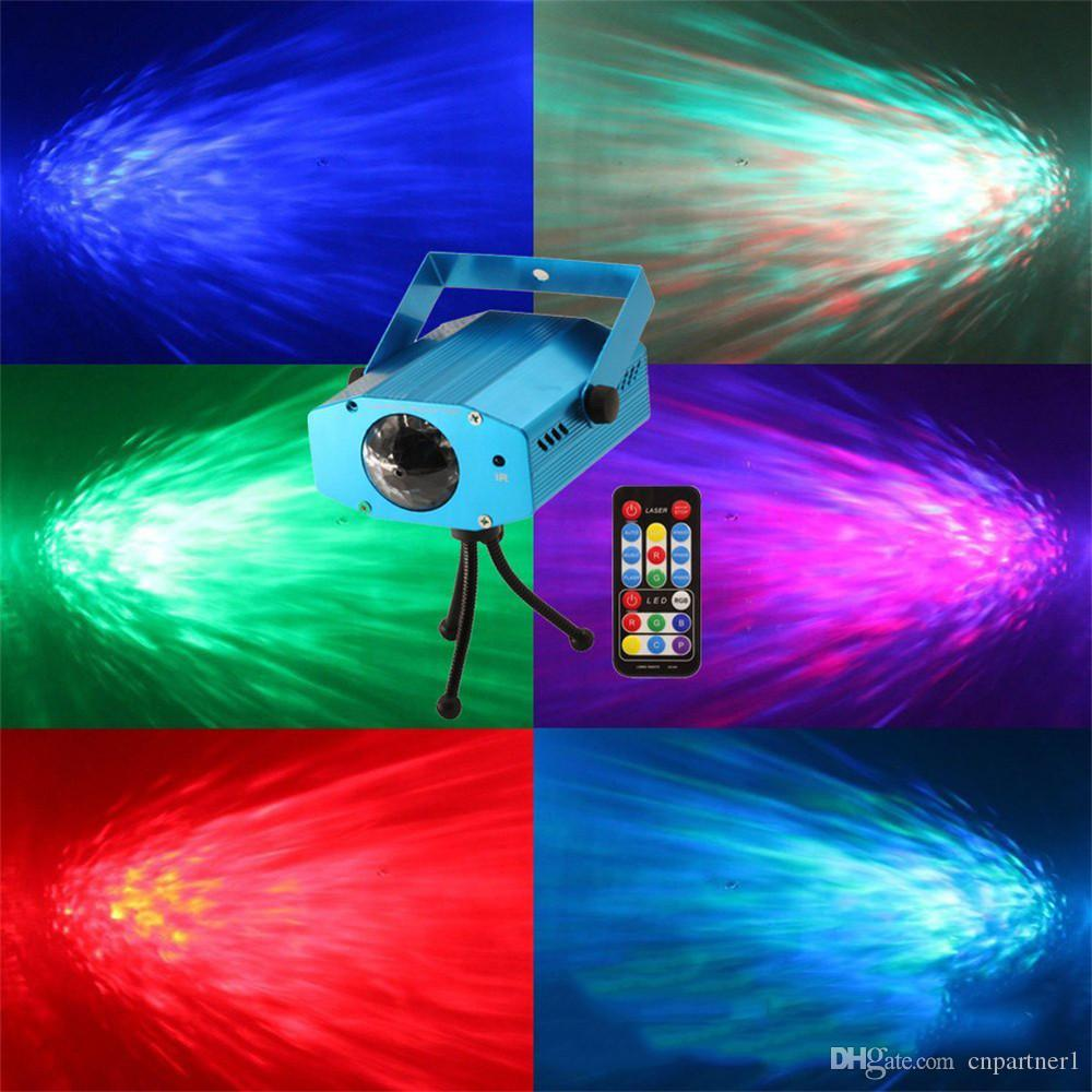new Projector Laser Led water ripples stage lamp light AC100-240V Auto RGB projector Lighting EU/US plug For KTV Xmas Party Wedding DJ Show
