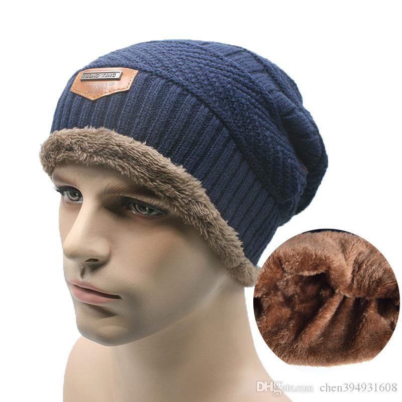 3de02df1f2a 2019 2016 Brand Beanies Knit Men S Winter Hat Caps Skullies Bonnet Winter  Hats For Men Women Beanie Fur Warm Baggy Wool Knitted Hat From  Chen394931608