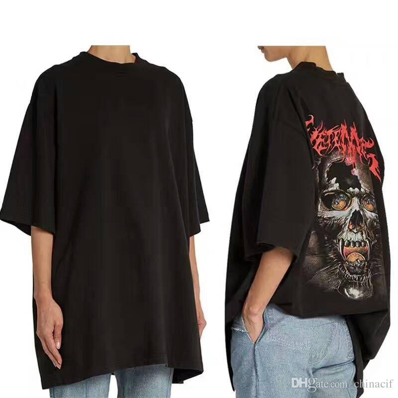 Vetements Skull in Back bigbang gd g-dragon Oversize Men Short Sleeved Tee