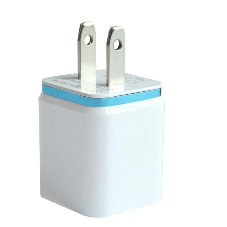 금속 듀얼 USB 벽 충전 충전기 미국 EU 플러그 2.1A AC 전원 어댑터 벽 충전기 플러그 아이팟을위한 2 포트 삼성 갤럭시 노트 LG 태블릿 Ipad
