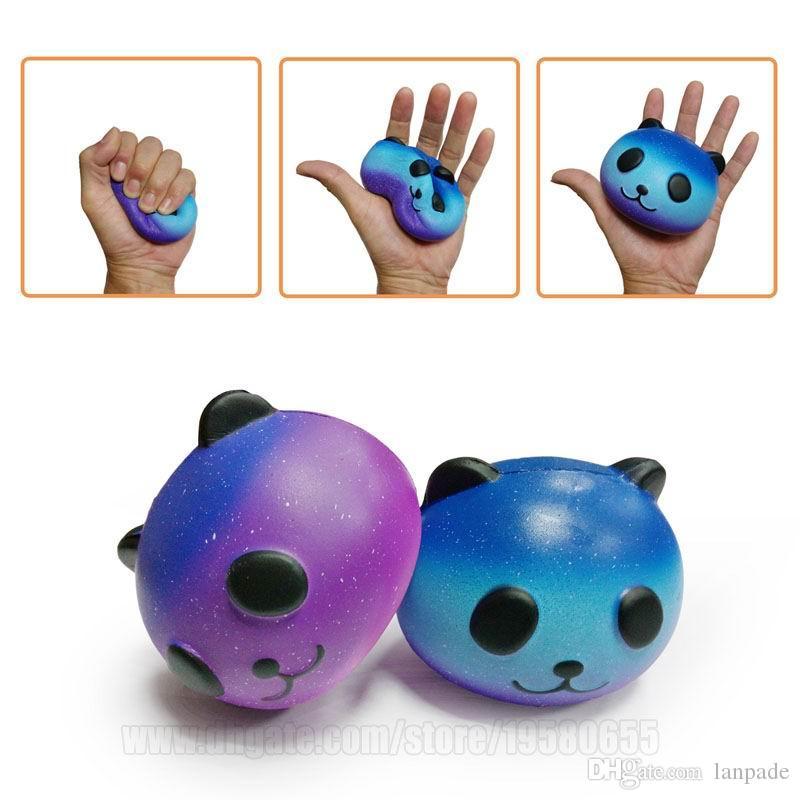 Squishy Toys Blue Panda Jumbo Squishies Bun Bear