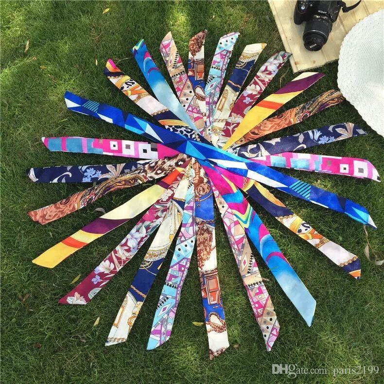 2017 nuovo multifunzione piccola sciarpa di seta la maniglia della borsa i moda nastro fascia delle donne foulard di seta foulard avvolgere