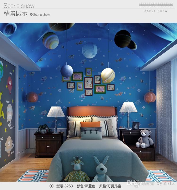3D Cartoon Wallpaper Ocean Fish Children Room Background Wallpaper ...