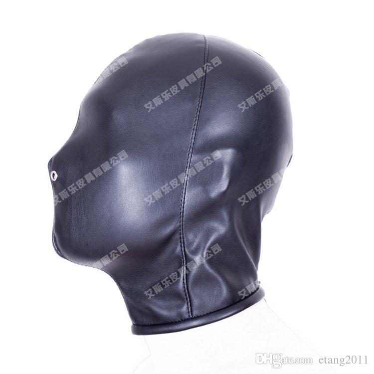 Bdsm Sex Toys Choking Stifle Suffocate Asphyxia Game Sex Slave Head Face Mask Blindness Hoods Bondage BDSM Pu Products