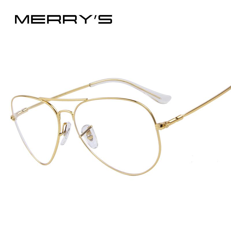 860124ef32f 2019 Wholesale MERRY S Fashion Men Titanium Eyeglasses Frames Men Brand  Titanium Eyeglasses Gold Shield Frame With Glasses From Heheda1