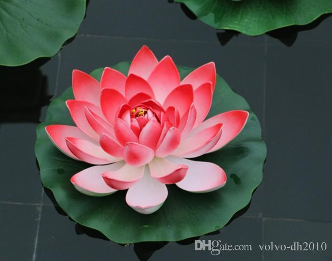 2019 17 Cm Diameter Artificial Lotus Flower Floating On The Water