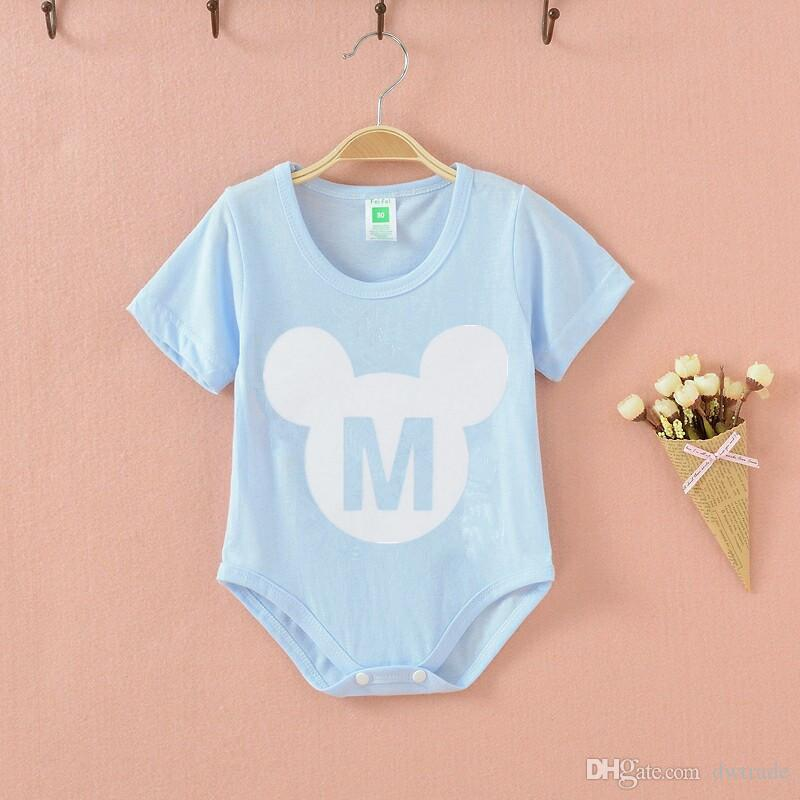 2017 Big Discount Factory price Summer Baby one-piece romper China cheap supply infant vest triangle clothing 100% cotton