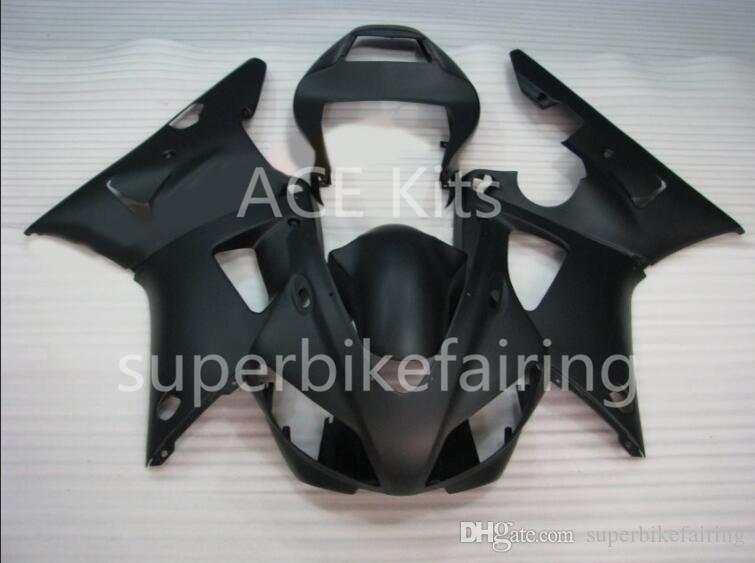 3Gifts New Hot Kits de carénage de vélo de vente pour YAMAHA YZF-R1 1998 1999 R1 98 99 YZF1000 Noir frais SX25