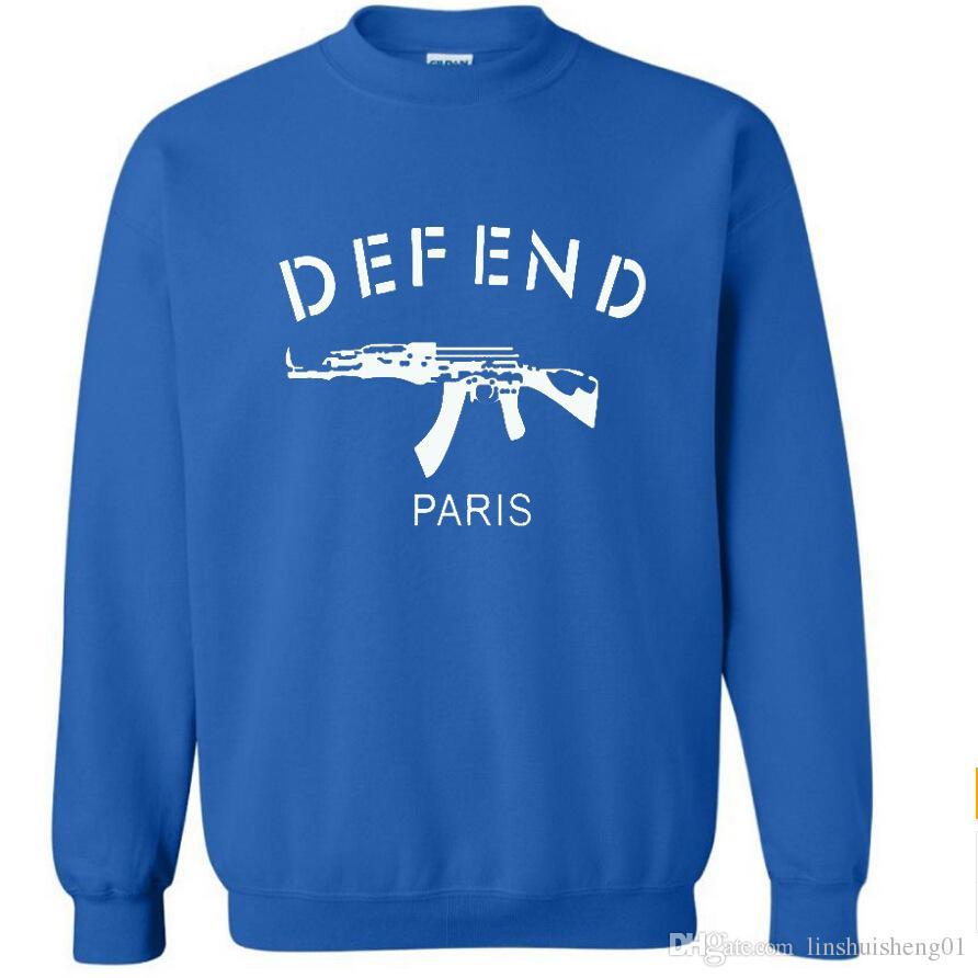 new 2017 Autumn winter Letters printed brand fleece DEFEND Men's sportwear Hoodies and Hip pop sweatshirts