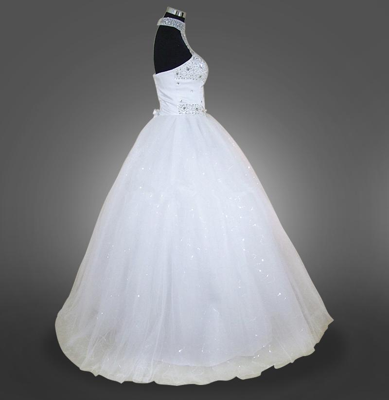 Cheap Beach Halter Sexy Beading A Line Tulle Plus Size Wedding Dresses Long Wedding Guest Gowns Maid Of Honor Dress
